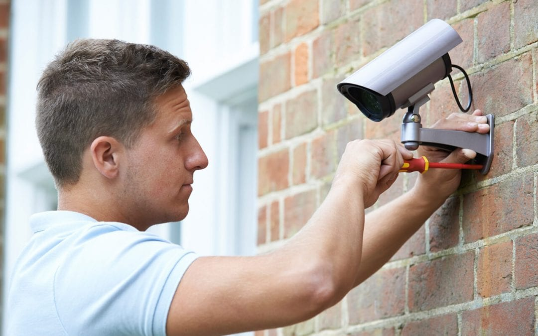 keep your home secure by installing a security camera