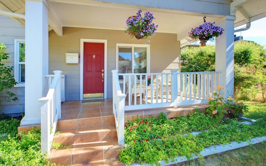 easy home renovations include painting the front door